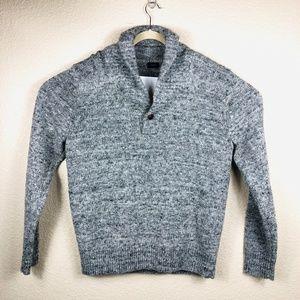 J. Crew Grey Shawl Pullover Sweater